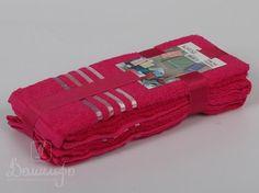 Набор полотенец BALE малиновый 30х50 (3шт) от Karna (Турция) - купить по низкой цене в интернет магазине Домильфо