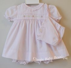 NWT Feltman Bros Brothers White Vintage 3pc Bonnet Diaper Set PREEMIE Baby Girl