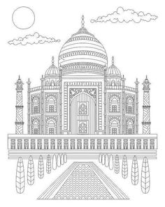 Relax with Art. Relax with Art - The world's best selling Adult Colouring Magazine, on-sale every 4 weeks. Cute Coloring Pages, Free Printable Coloring Pages, Adult Coloring Pages, Colour Architecture, Architecture Drawings, Colorful Drawings, Art Drawings, Black Paper Drawing, Relaxing Art