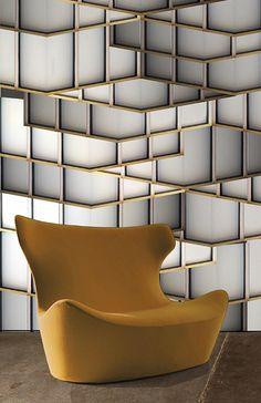 LATTICE SYSTEMS  Random Architecture LED wallpaper