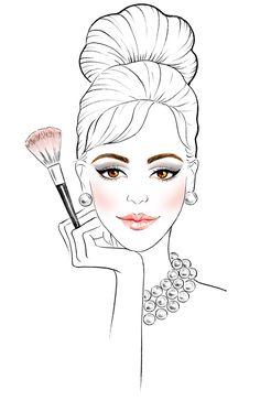 Makeup Tutorials - Sunny Gu --- more sketches here