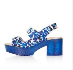 Cool blue chunky spring shoes
