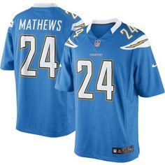 Nike Ryan Mathews San Diego Chargers The Limited Jersey - Powder Blue
