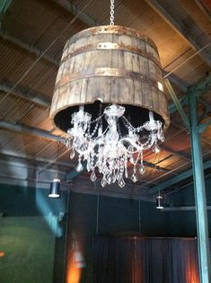 Whiskey Barrel Chandeliers! Courtesy of Nashville Event Lighting and Southern Events