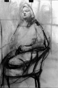 Untitled Figure in Studio PAUL W RUIZ http://www.paulwruiz.com/ruizart/papel.html#1