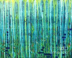 """""""2 Samuel 22:17"""" acrylic on canvas  by Allison Fox foxfiregalleries.com"""