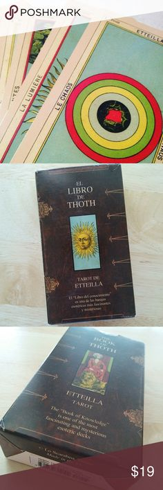 Book of Thoth Etteilla Tarot Card Deck Includes instructions for divination using the cards.  Full deck. Like new. Was given to me as a gift. Cards in perfect and pristine condition. All original photos of actual deck.    Lo Scarabeo Full Sized Etteilla Deck by Llewellyn Other