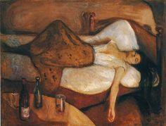 """Obra """"O dia seguinte"""", de Edvard Munch, obra relacionada ao expressionismo."""