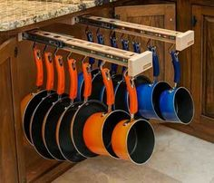 cool idea for storing pots and pans - 50 Best Small Kitchen Storage Ideas For Awesome Kitchen Organization 30 – GooDSGN