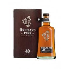 Highland Park 40 years old, 70cl, 48,1% alc.