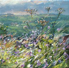 British Artist Mark PRESTON - Seedheads, Bonsall Moor
