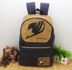 Anime FAIRY TAIL Guild LOGO canvas Backpack Student school bag shoulder bag Gift