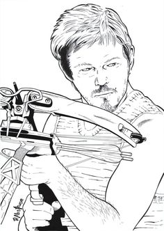 Pin by cathy simms on walking dead coloring book pinterest Michonne Coloring Page TOADETTE Coloring Pages Walking Dead Daryl Christmas