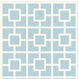 Labyrinth Blue Cotton Loop Pile Rug RM11519