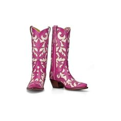 Pink Cowboy Boots Back at the Ranch ❤ liked on Polyvore