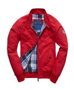 New Mens Superdry Longhorn Harrington Jacket Red Grey Leather Jacket Mens, Mens Leather Coats, Leather Jackets, Superdry Jackets, Superdry Mens, Men's Jackets, Superdry Style, Captain America Leather Jacket, Superdry Fashion