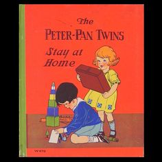 The Peter Pan Twins Stay at Home, artwork by Rhoda Chase, 1929 | eBay