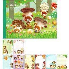 Crux Kinoko no Mori Mushroom Bears Double Memo Pad
