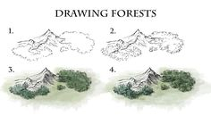 How To Draw Forests Dark forests are a staple of fantasy literature. In this tutorial I run down the methods I use to draw and colour view forests for world and regional scale maps. Fantasy World, Fantasy Art, Fantasy Map Making, Rpg Map, Dungeon Maps, Map Design, Realistic Drawings, Drawing Techniques, Map Art