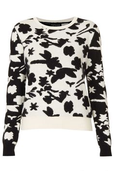 Knitted Flower Shadow Jumper - Knitwear - Clothing - Topshop