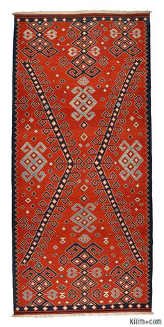 New Turkish Kilim Area Rug hand-woven in Turkey with vegetable-dyed and hand-spun wool. The fringes can be removed upon request. If you like the design of this rug, we can custom make it to meet your color and size requirements.