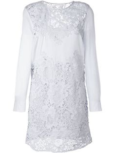Shop See By Chloé guipure lace panel dress  in Sigrun Woehr from the world's best independent boutiques at farfetch.com. Shop 400 boutiques at one address.