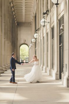Amazing photo outside of the Chicago Civic Opera House | Planning by Naturally Yours Events | Photo by Z+V Photography #chicago #chicagowedding #Wedding #weddingplanner #weddingplanning #weddingphotos #weddingdecor