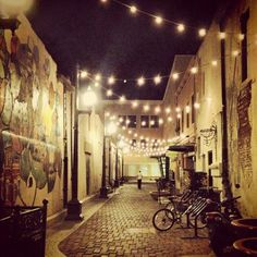 Old Town Fort Collins ... photo taken by me late night downtown ... cool to see it's had so many pins!
