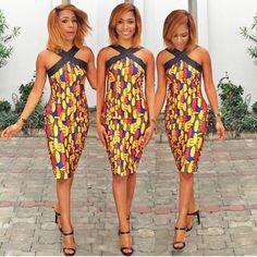 Criss Cross African Dress                                                                                                                                                      Plus