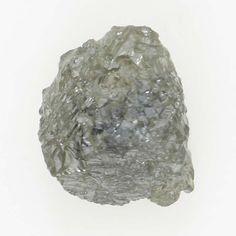0.62 Ct Natural Loose Diamond Raw Rough Irregular Shape Silver Color
