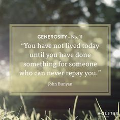 What will you do for someone who can never repay you?   #generosity #thisisyourLIFE #mindfulmatter
