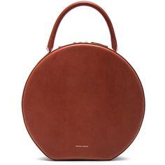 Mansur Gavriel Circle Bag (14,485 MXN) ❤ liked on Polyvore featuring bags, handbags, brown purse, mansur gavriel bag, hand bags, hardware bag and brown hand bags