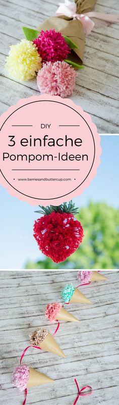 3 einfache DIY-Ideen mit Pompoms