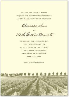 Paper DIvasSignature Ecru Wedding Invitations Rustic Romance - Front : Bark (old pic of hotel/CM)
