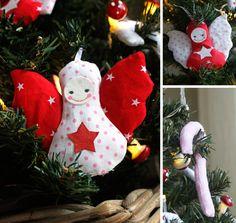 Kerstboom en versiering voor mijn kleine meid. DIY fabric Christmas angel decoration for my little girl. #DIY christmas, christmas, DIY angel, angel, DIY christmas tree decoration.