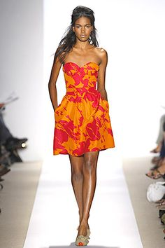 Peter Som floral frock is from here to beyond....