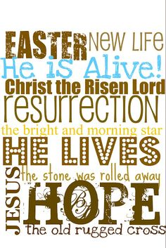 Easter Subway Art - Free Printables in 3 Colors