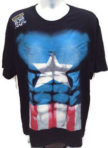 "Up for purchase is a Marvel Captain America 3D Shirt.  • Length: 31""-31.5""  • Width: 22""-22.5""  • Size: XL  • Sleeves: 7.5""-8""  • Material: 100% Cotton  • Made in: Mexico  • Made by: Marvel Comics   • Condition: Shirt is in great condition. Not entirely sure if there was a tag intact to the shirt above the Marvel brand print. Shirt does have the Advanced Printed Ink sticker still on the shirt.Shirt also has an awesome look/feel with the 3D ink printing. .http://www.ebay.com/usr/bigthax62…"