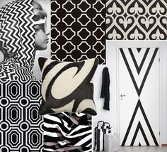 Opposites attract in these bold black and white Surya rugs