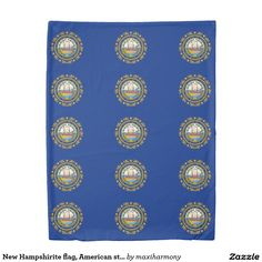 New Hampshirite flag, American state flag Duvet Cover