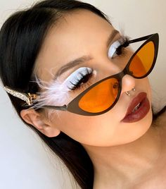 finished off her glam look with our retro cat ey Suva Beauty, Beauty Makeup, Hair Makeup, Festival Makeup, Interesting Faces, Daily Fashion, Mirrored Sunglasses, Makeup Looks, Beauty Hacks