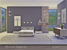 Simplicity Bedroom by ung999 at TSR via Sims 4 Updates