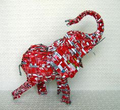 Soda Can Elephant  http://www.worldnativity.com/products/?id=5.15.63