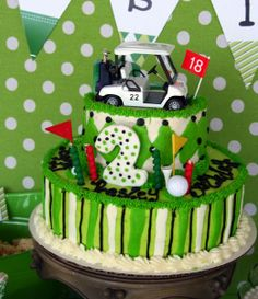 golf birthday party...maybe one day I can manage this for the husband who is obsessed with golf!