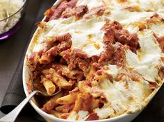 Baked Penne with Sausage and Creamy Ricotta Recipe - Maria Helm Sinskey Baked Penne, Baked Pasta Recipes, Italian Dishes, Italian Recipes, Wine Recipes, Cooking Recipes, Party Recipes, How To Cook Sausage, Pasta Bake