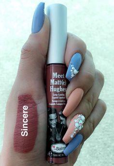 The balm liquid lipstick sincere swatch