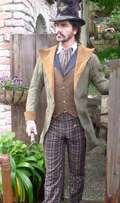 Hey, I found this really awesome Etsy listing at https://www.etsy.com/listing/157833388/hunter-green-and-brown-steampunk-frock