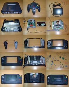 """Handheld nintendo 64"" Thought about making one of these a couple years ago, haven't had the time"