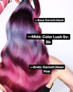 "American Salon on Instagram: ""lovin' this color breakdown by @presleypoe 💜💖 •⁣ •⁣ •⁣ #hairgoals #hairdressermagic #salonlife #hairtrends #hairdresser #haireducation…"""