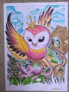 Coruja new school Lastigha Del Arkivo Owl Tattoo Drawings, Art Drawings, Owl Tattoo Design, Tattoo Designs, Live Tattoo, Blackout Tattoo, Rodents, Old School, Graffiti